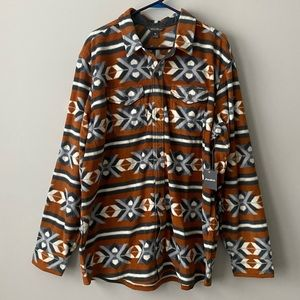 Eddie Bauer Chutes Toffee Microfleece Shirt XXL